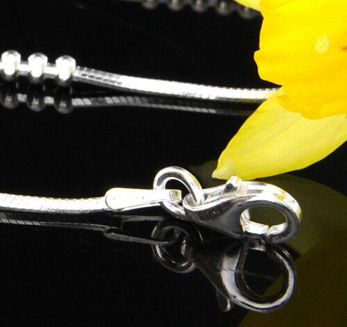 """elementos De Plata 16/""""//41cm CH040 Cadena serpiente Italiano Plata Esterlina//Collar"""