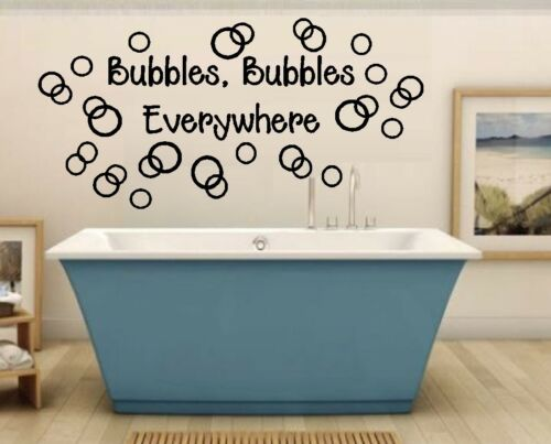 Bubbles Bubbles Everywhere ~ Wall or Window Decal