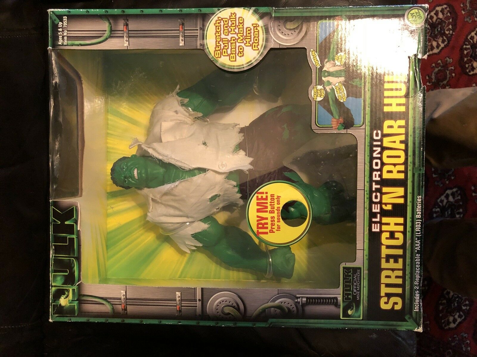 Stretch And Roar Hulk Incredible Hulk Stretch Armstrong MIB
