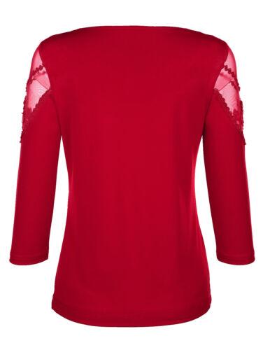 taille 54 121751789 4 Soir Edel Shirt rouge avec bijoux-Pierres Taille 50