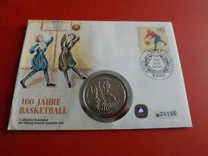 100 Ans De Basket Numisbrief 1991 Avec 5 Dollar 1991 Niué (alb28)-afficher Le Titre D'origine