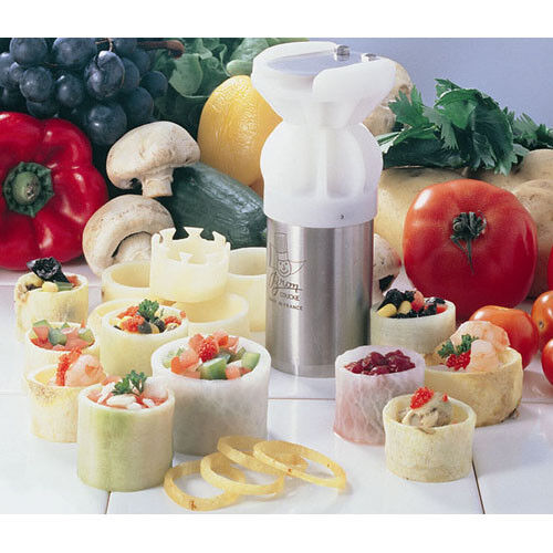 "Bron Coucke Turn/'Up Vegetable Garnisher Makes 2/"" 5 cm diameter cups"