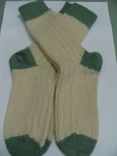 2 X Pairs of Traditional Wool blend socks size 7-9 sock unisex boot walking new