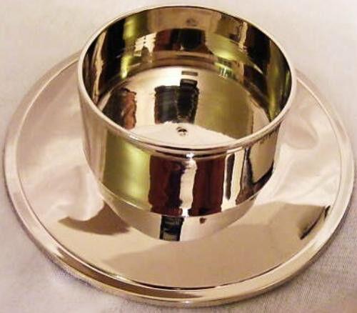 Kerzenständer Taufkerze Kommunionkerze Hochzeitskerze 70 mm in silber