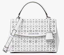 MICHAEL Michael Kors Ava Saffiano Perforated Leather Small Satchel Shoulder $298