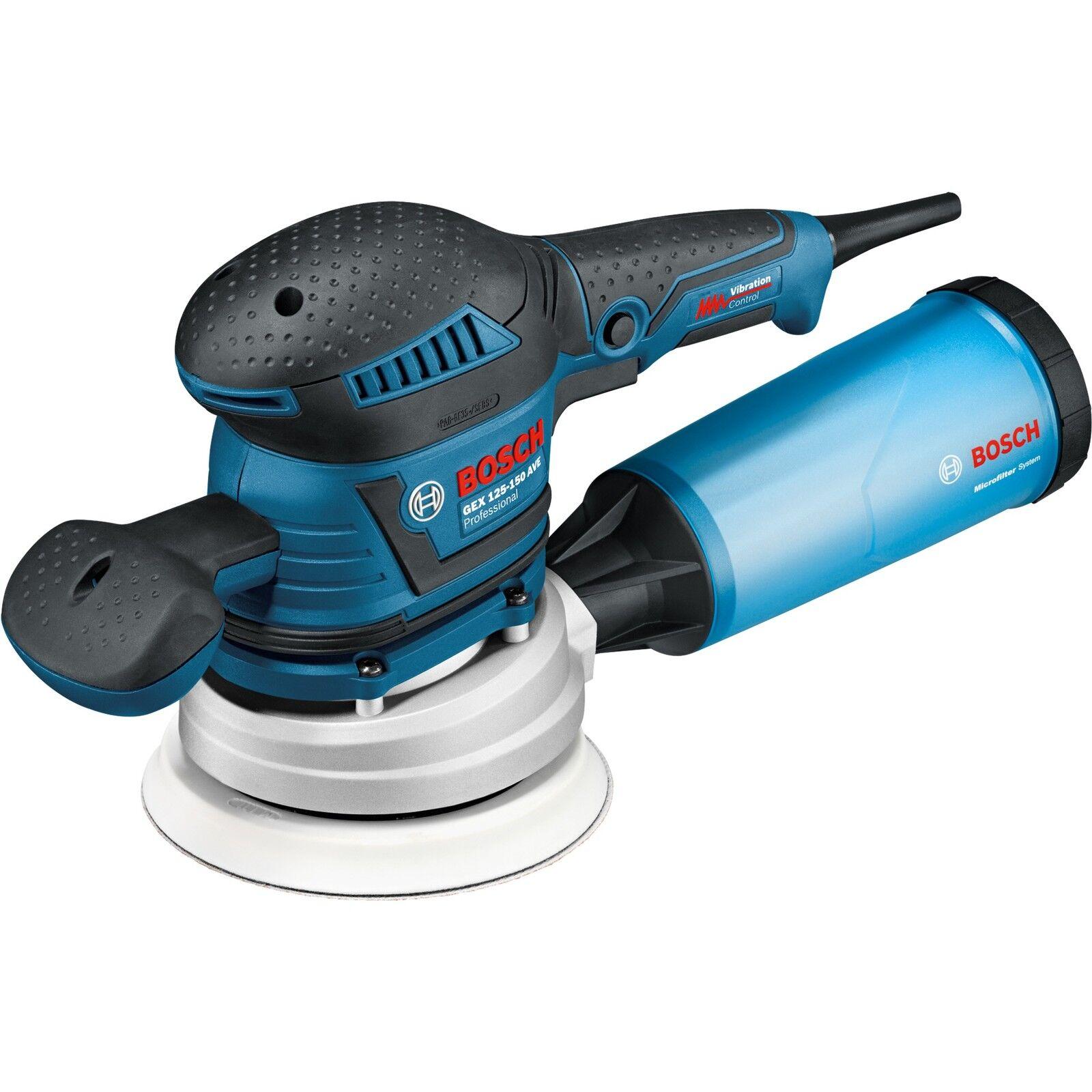 Bosch Professional Exzenterschleifer GEX 125-150 AVE Professional, blau