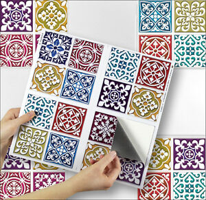 4 tile transfer stickers 6 x 6 moroccan mosaic for kitchen