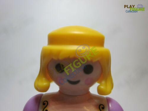 PLAYMOBIL PLAYFIGURE LOT OF short YELLOW HAIR //PIECES PARTS LOT OF 3.