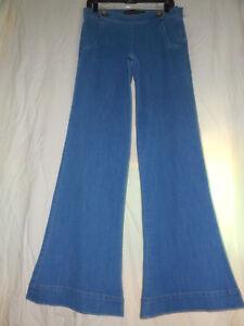 EXPRESS-6-NWT-6R-Nautical-Wide-Leg-Flare-Bell-Bottom-Jeans-Rockabilly-Hippie