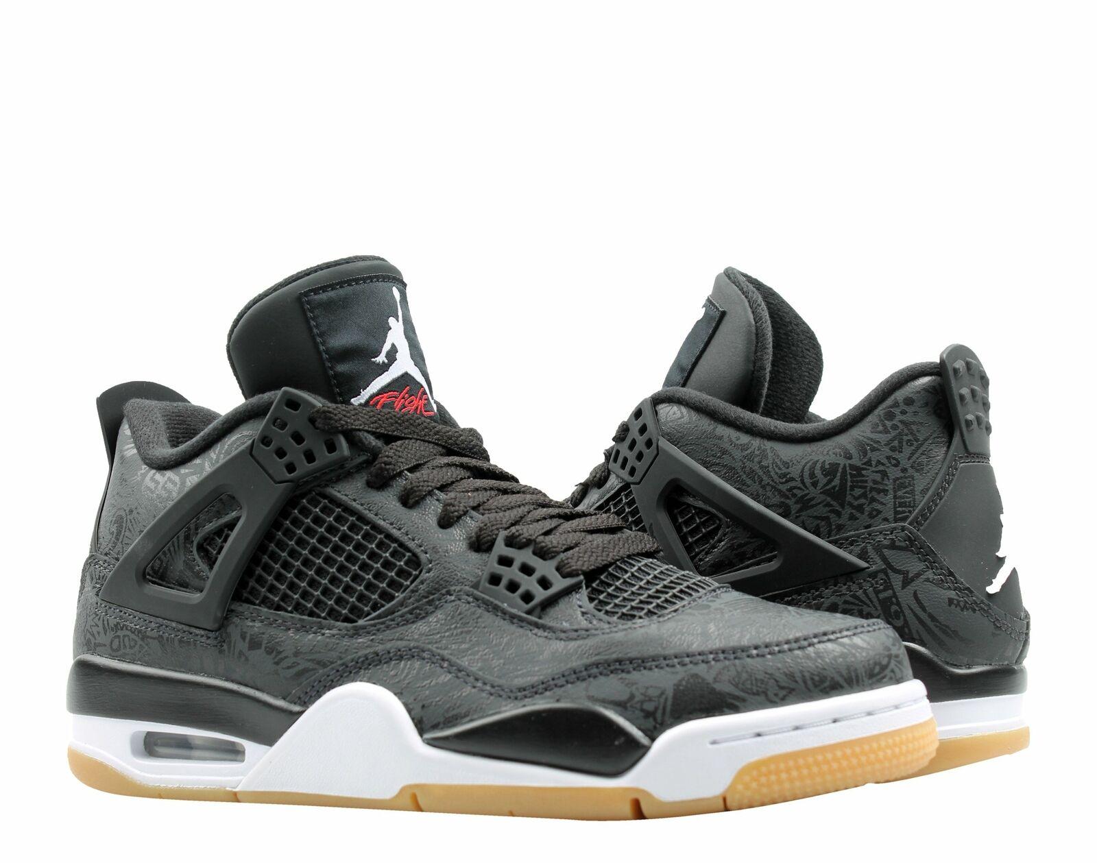 Nike Air Jordan 4 Retro SE Black White-Gum Men's Basketball shoes CI1184-001