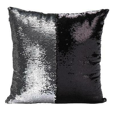 1XFashion Bling Shiny Glittering Scaly Sequins Pillow Case Sofa Cushion Cover S