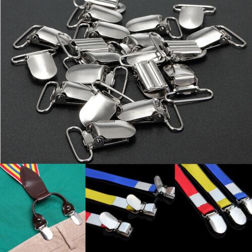 20Pcs Insert Pacifier Metal Holder Suspender Clips Mitten For Craft 28x10mm