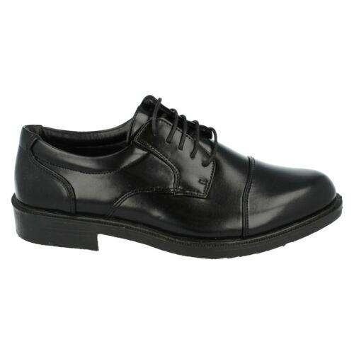Hommes Noir À Lacets Formel Smart Malvern Chaussures A2R060