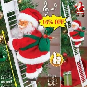 New-Santa-Claus-Electric-Climb-Ladder-Hanging-Decoration-Christmas-Tree-Ornament