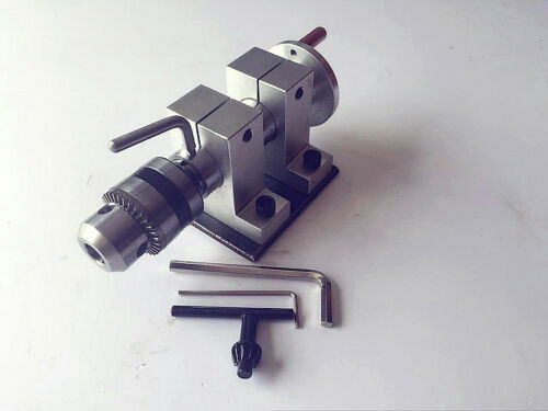 DIY Mini Lathe Woodworking Machine Drill 35mm Collet  Chuck Thimble TailstockT