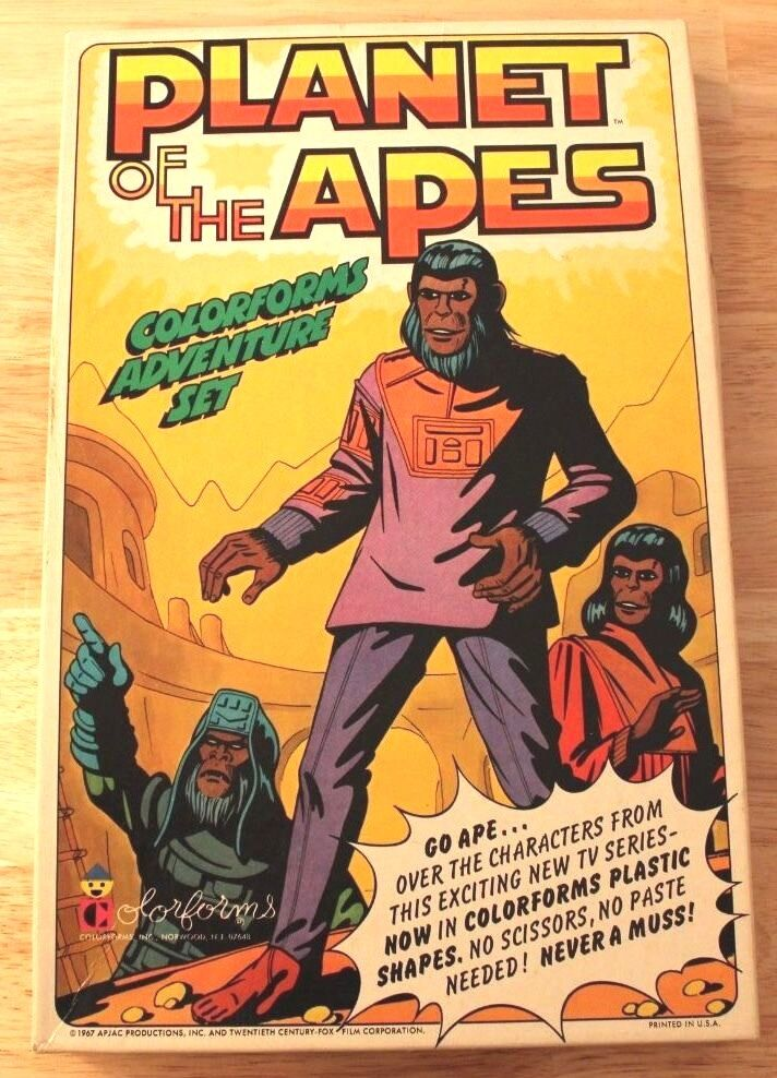 Planet Of Of Of The Apes colorform Adventure Set Toy 1967 1 pcs missing w  Booklet 7d4400