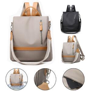 Women Waterproof Anti-Theft Oxford Backpack Rucksack Lady Cloth Purse School Bag