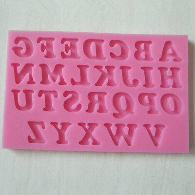 Silicone Alphabet Letter Trays Chocolate Mold Cake Fondant Decorating Tools 1PC
