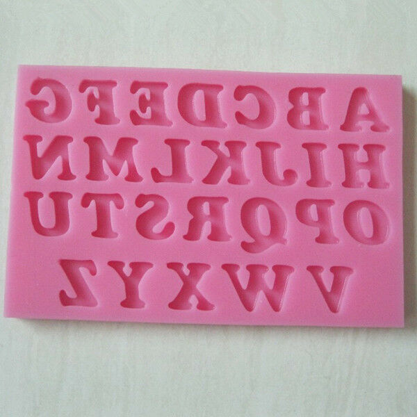 Silicone Alphabet Letter Trays Chocolate Mold Cake Fondant Decorating Tools 1PC