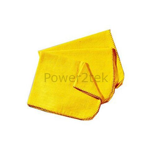 10 x Haute Qualité large doux polissage chiffon nettoyer jaune torchons 100/% coton UK