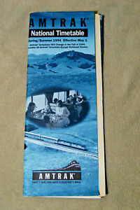 Amtrak-National-Timetable-Spring-Summer-1994