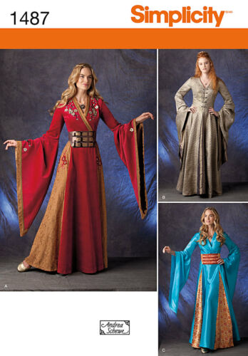 SIMPLICITY 1487//S789 OOP Game of Thrones Cerse or Fantasy Costume Sewing Pattern
