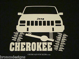Jeep Cherokee Flexing Xj Sport Rock Crawler Sticker