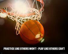 Basketball Motivational Poster Print Art NBA AAU Bulls Lakers Heat Spurs MVP478