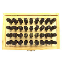 36 Pc 6mm Steel Punch Capital Alphabet Letter & Number Stamp Set Stamping Kit