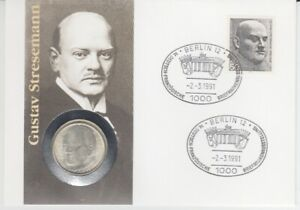 Le-Timbre-Numismatique-Allemagne-5-DM-Argent-de-Gustav-Stresemann