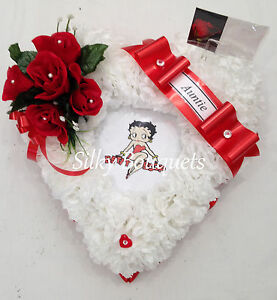 Mothers Day Artificial Silk Funeral Flower Heart Scatter Memorial Tribute faux
