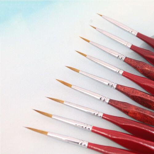 6PC Nylon Artist Paint Brush Set  Hair Watercolor Acrylic Oil Painting SupplyGO6