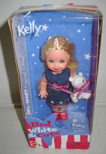 #1178 NRFB Mattel Wal-Mart Red, White & Cute Kelly Doll