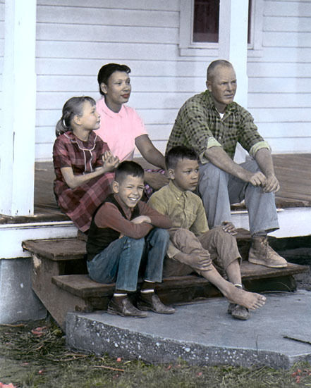 "MILDRED RICHARD LOVING INTERRACIAL CIVIL LIBERTIES 8x10"" HAND COLOR TINTED PHOTO"