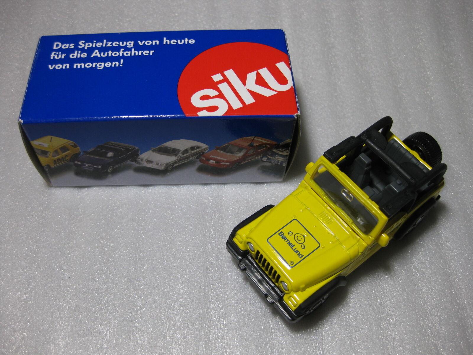 SIKU JEEP WRANGLER Bornelund 2009 Exclusive Diecast Model Rare Promo