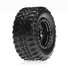 Losi LOSB1572 Black Chrome Wheels/Desert Tires (4): 1/36 Micro-Desert Micro-T