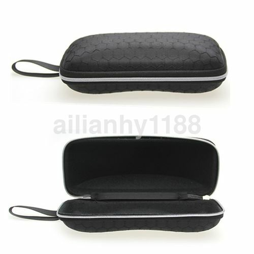 Reading Glasses Sunglasses Carry Case Bag Hard Zipper Box Travel Pack Black AU