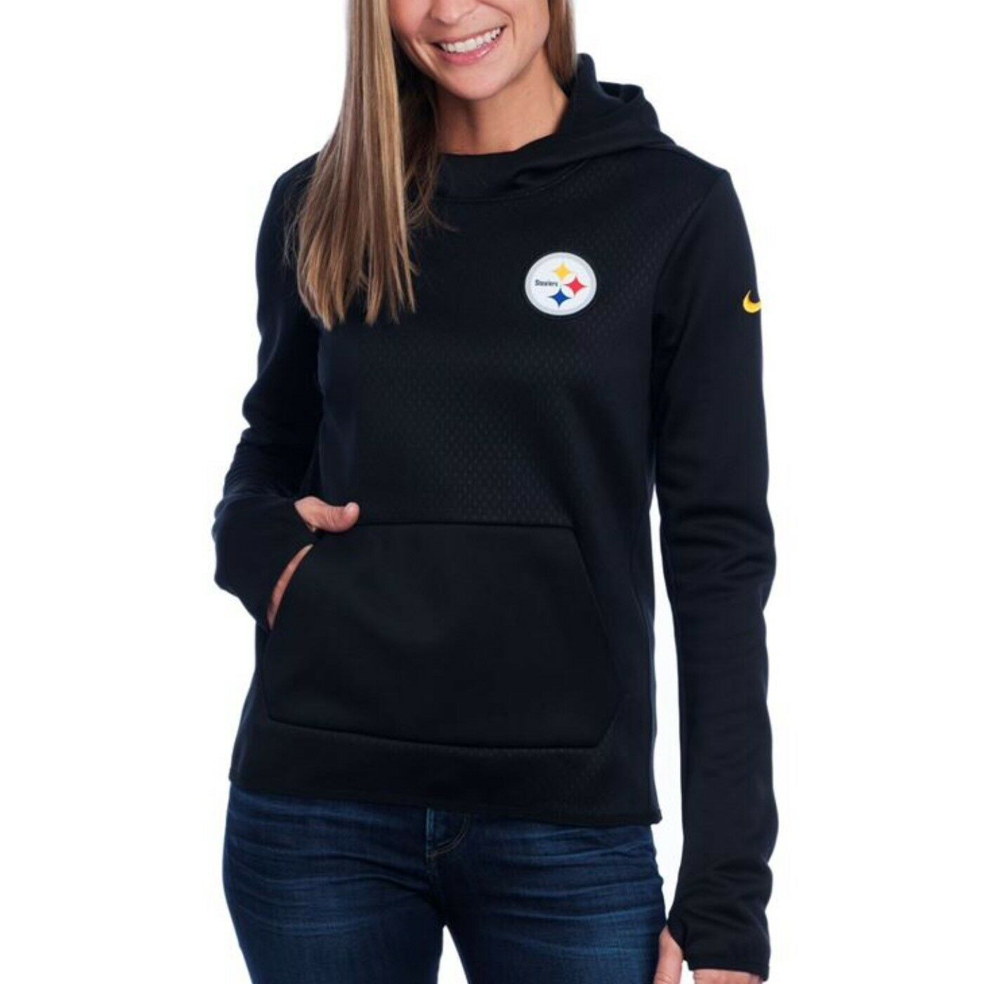save off 9da08 4a5fa Pittsburgh Steelers NFL Nike Therma-fit Tailgate All-time Tech XL Hoodie