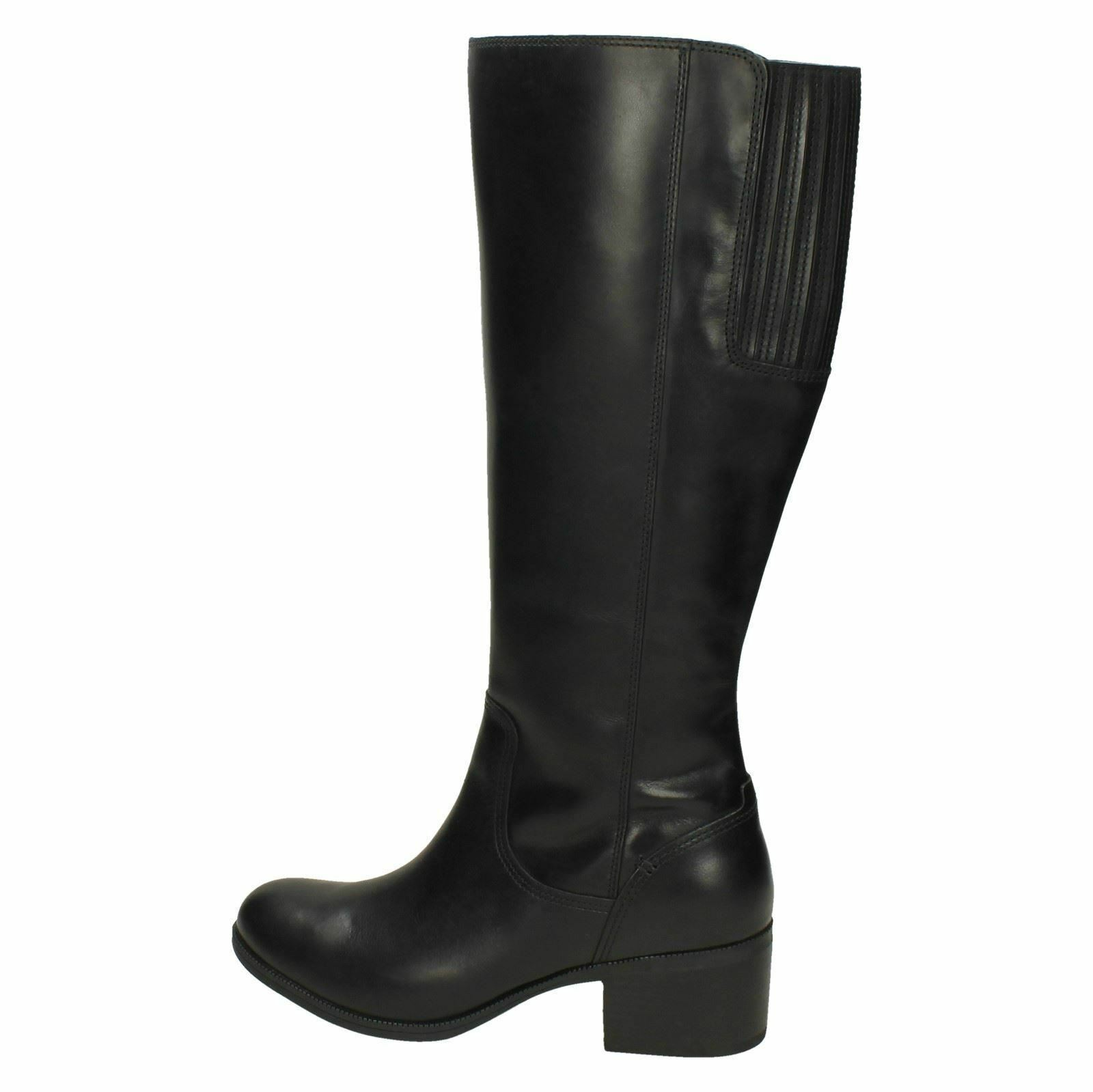 MAYPEARL VIOLA LADIES CLARKS ZIP ZIP ZIP LEATHER CASUAL HEELED RIDING KNEE LENGTH Stiefel dc3792