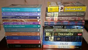 21-BOOK-HUGE-LOT-Narnia-1-6-Percy-Jackson-1-5-Fablehaven-1-2-Elyon-1-2-WOW