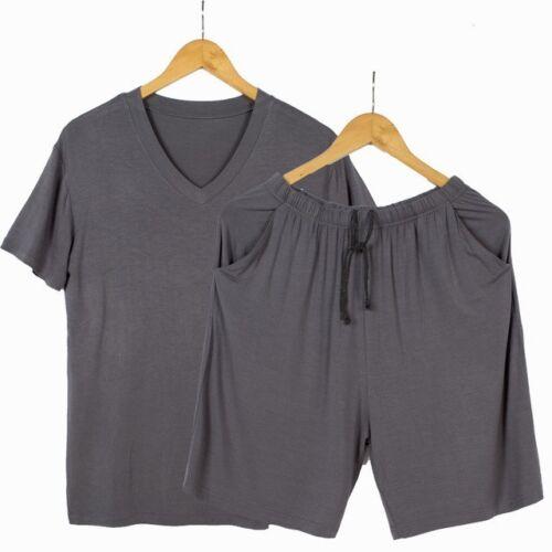 Homme pyjama Respirant Modal Casual T Shirt et Short Deux pièces Pyjamas