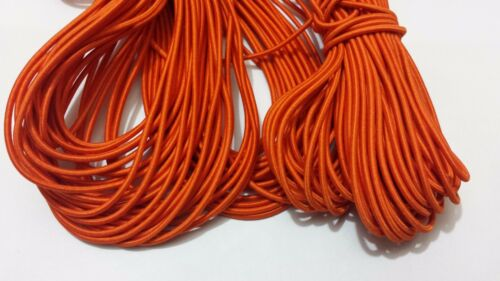 5M HIGH QUALITY ELASTIC STRETCHABLE THIN CORD  IN BLACK WHITE /& ORANGE 5 METER