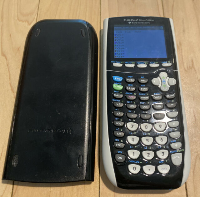 Texas Instruments TI-84 Plus C Silver Edition Graphing Calculator W Cover