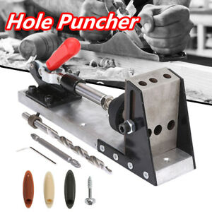 Pocket-Hole-Jig-Drill-Guide-Master-Kit-Carpenter-Joinery-System-Woodworking-Tool