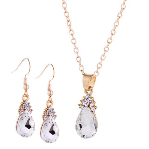 Halskette mit Ohrringe Kristall Verschönerung Schmuck Für Damen Schmuck Set