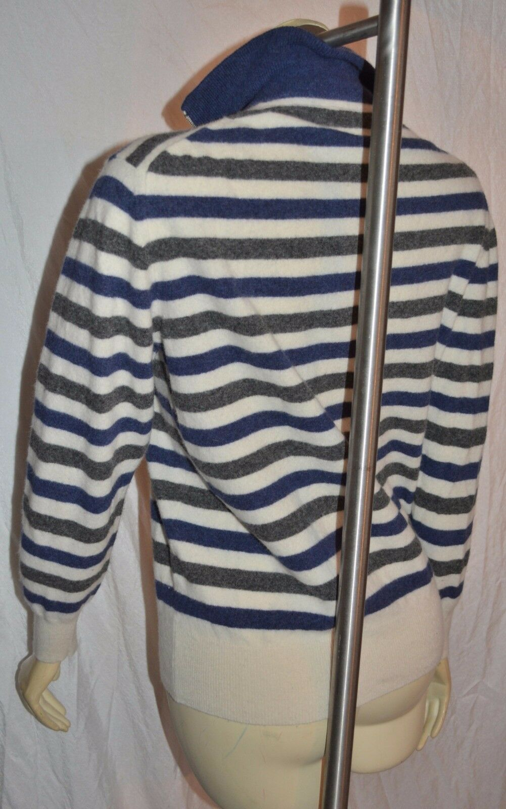 SCAPPINO ITALY  preppy  full ZIP WOOL cardigan    SWEATER M CLASSIC 08a6b6