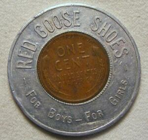 1950-D-Red-Goose-Shoes-Keep-Me-And-You-Will-Have-Good-Luck-Encased-Wheat-Cent