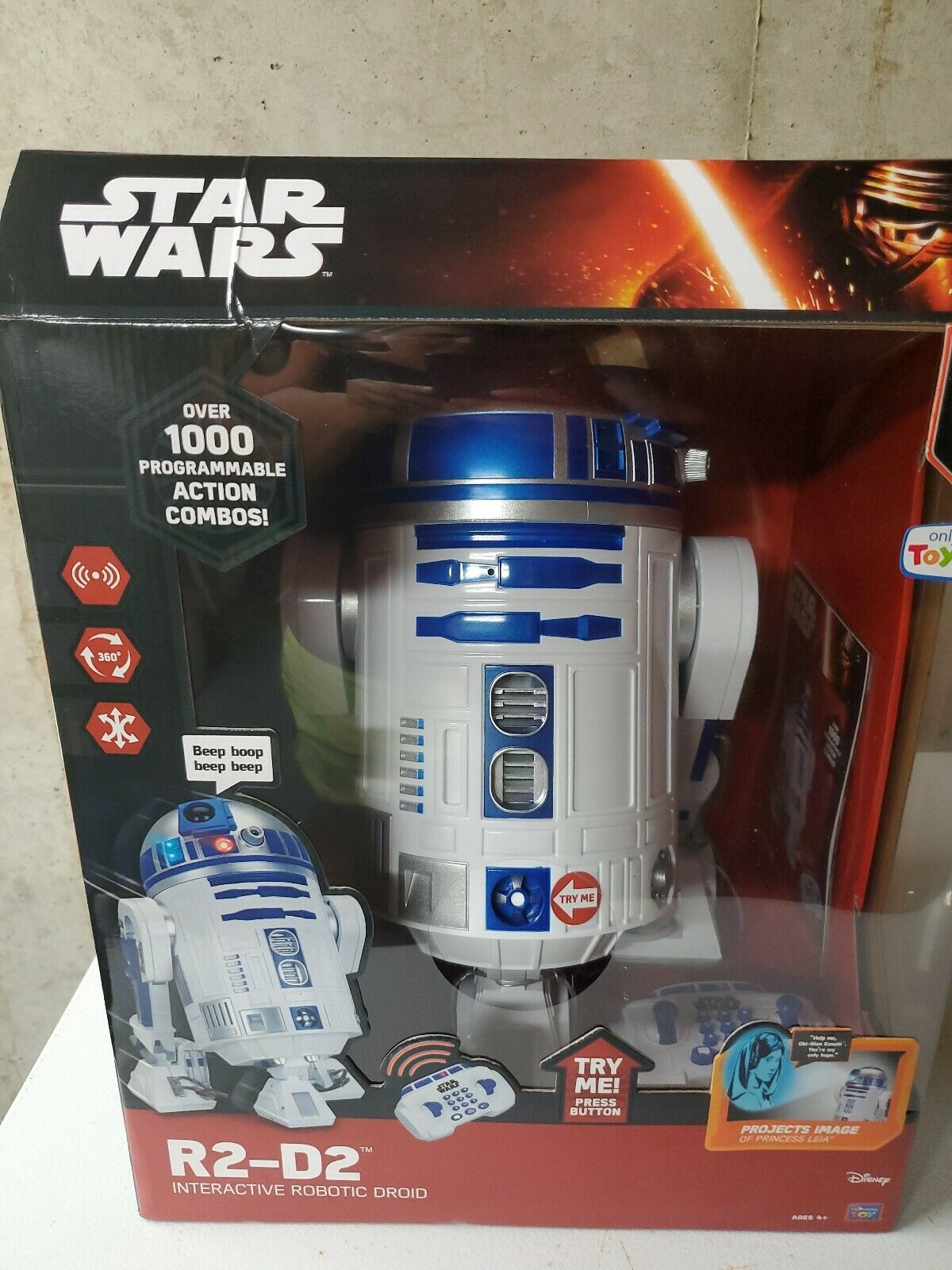 "Star Wars 16/"" R2-D2 Interactive Robotic Droid Remote Control Toys R US Exclusive"