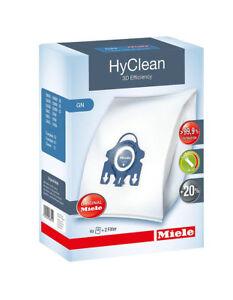 Miele-C3-Powerline-Vacuum-Bags-Genuine-HyClean-3D-Efficiency-GN-4-Bags-2-Filt