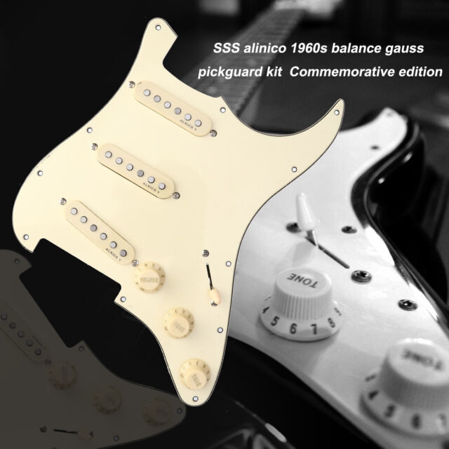 Prewired Loaded Pickguard Alnico V Pickups for Fender Strat Electric Guitars US